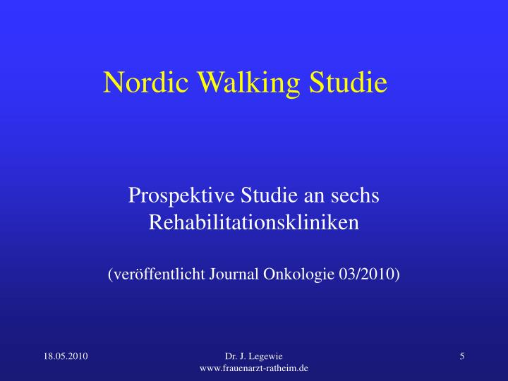 Nordic Walking Studie