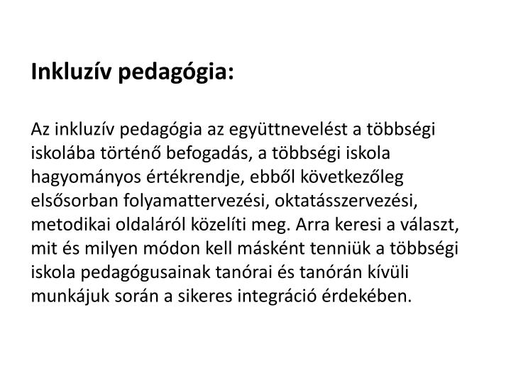 Inkluzív pedagógia: