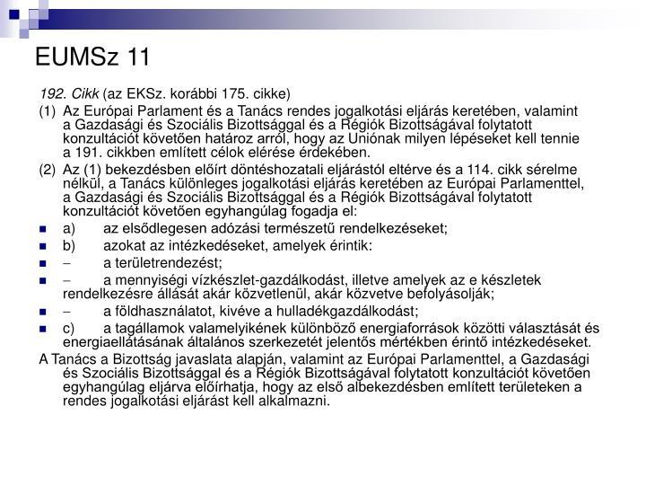 EUMSz 11