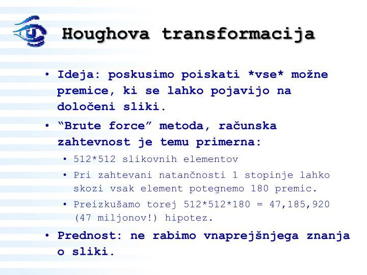 Houghova transformacija