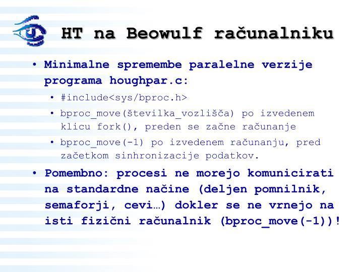 HT na Beowulf računalniku