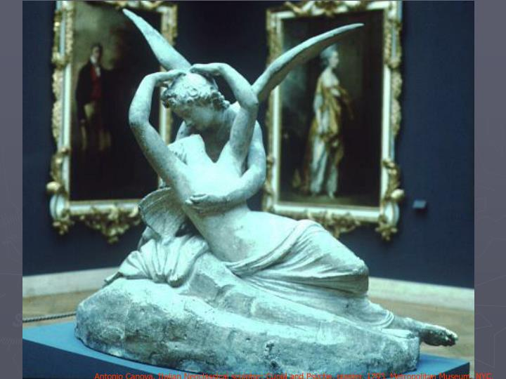 Antonio Canova, Italian Neoclassical sculptor: Cupid and Psyche, plaster,