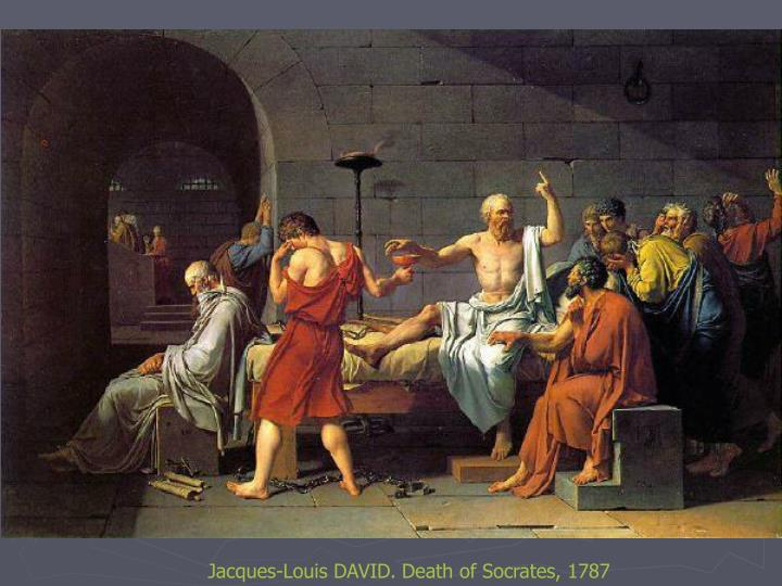 Jacques-Louis DAVID. Death of Socrates, 1787