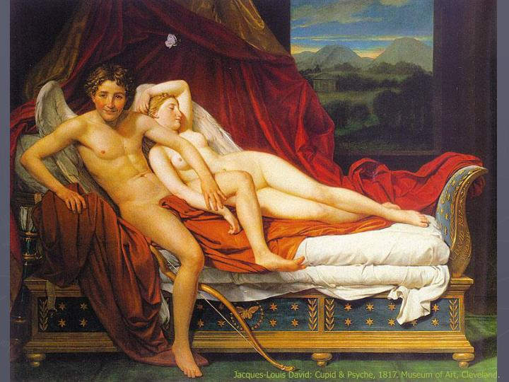 Jacques-Louis David: Cupid & Psyche, 1817. Museum of Art, Cleveland.