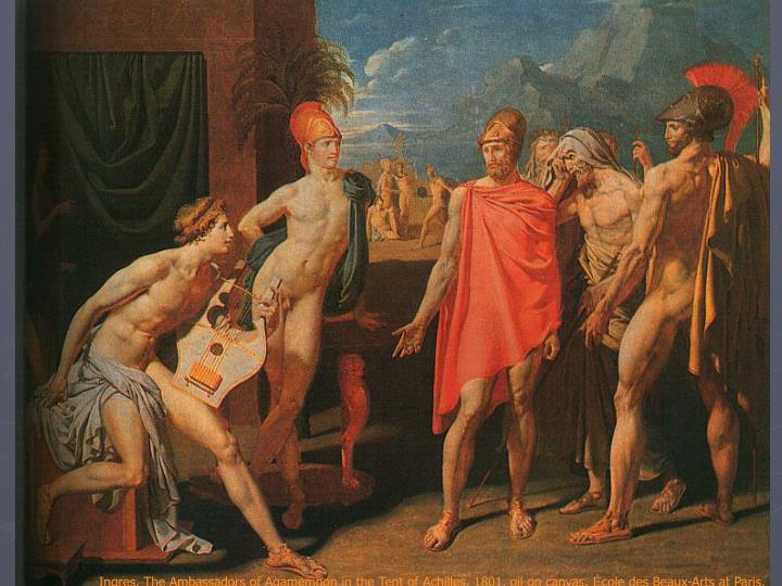 Ingres, The Ambassadors of Agamemnon in the Tent of Achilles, 1801, oil on canvas,