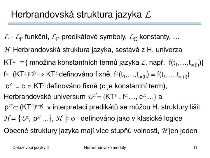 Herbrandovská struktura jazyka