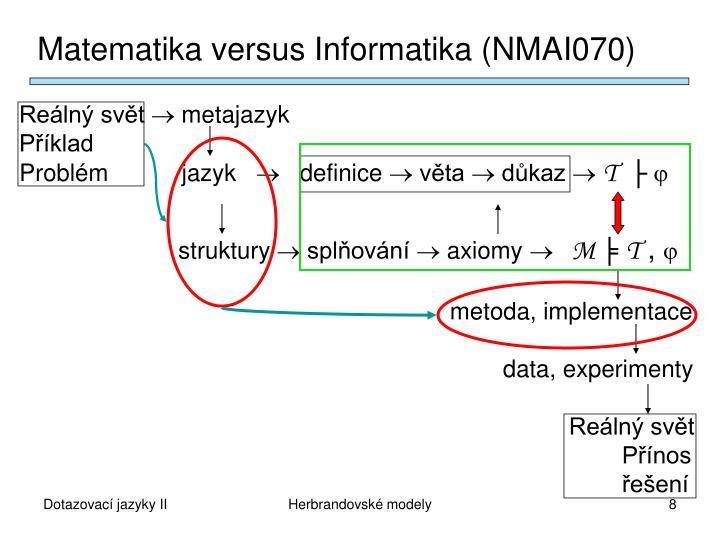 Matematika versus Informatika