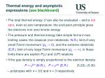 thermal energy and asymptotic expressions see blackboard