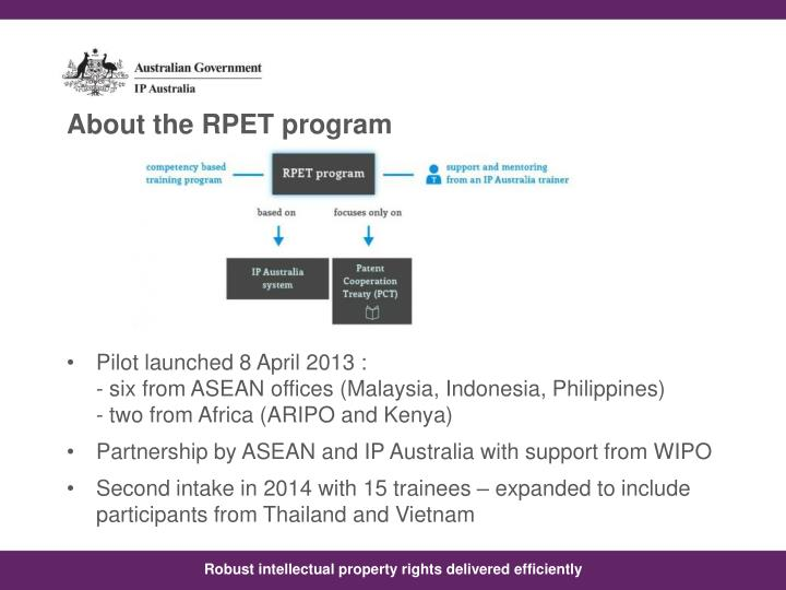 About the RPET program