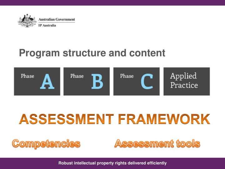 Program structure and content