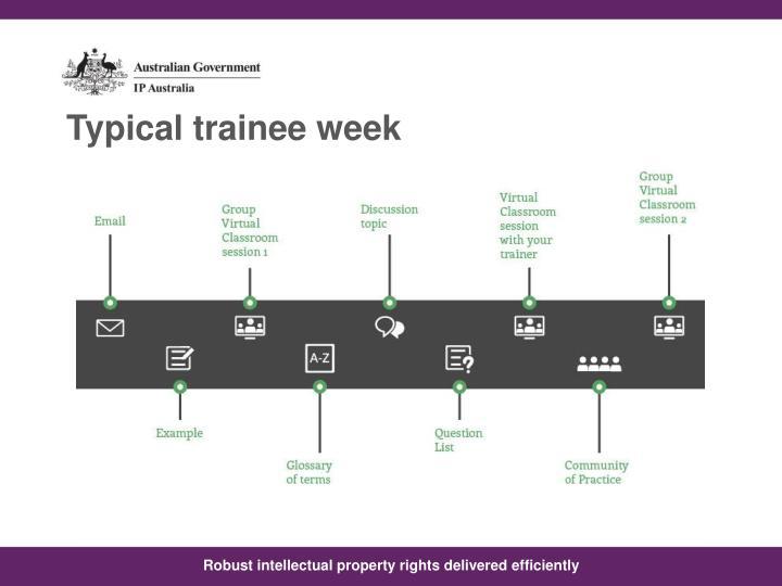Typical trainee week