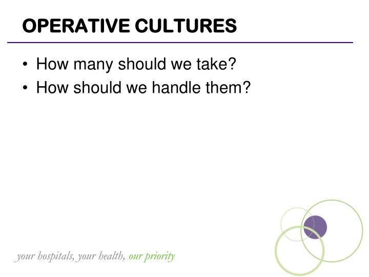 OPERATIVE CULTURES