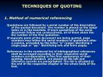 techniques of quoting1