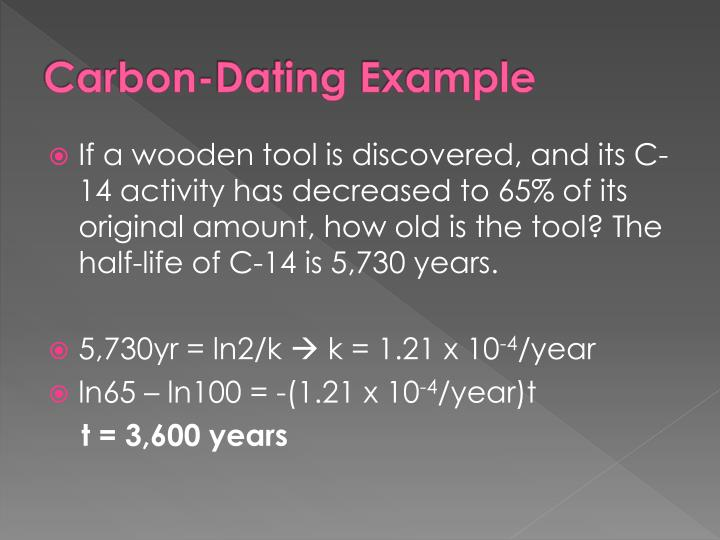 Carbon-Dating Example
