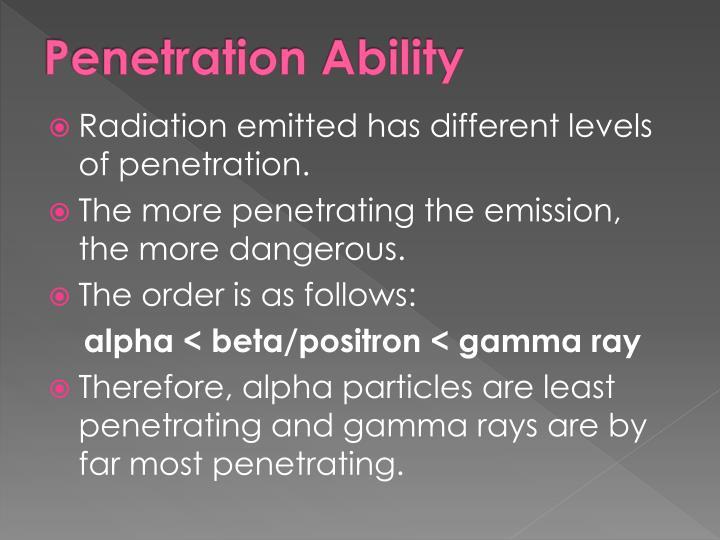 Penetration Ability