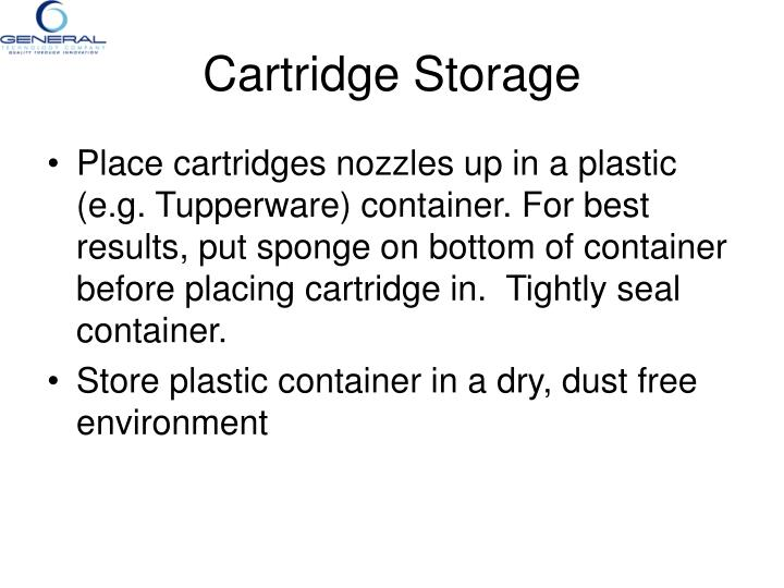 Cartridge Storage