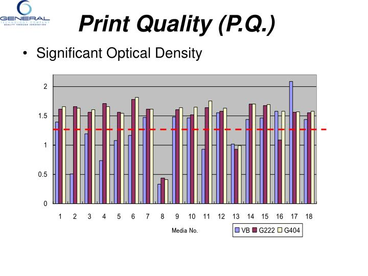 Significant Optical Density