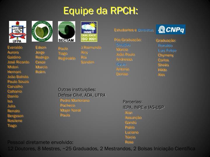 Equipe da RPCH: