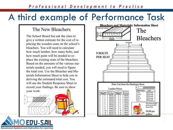 A third example of Performance Task
