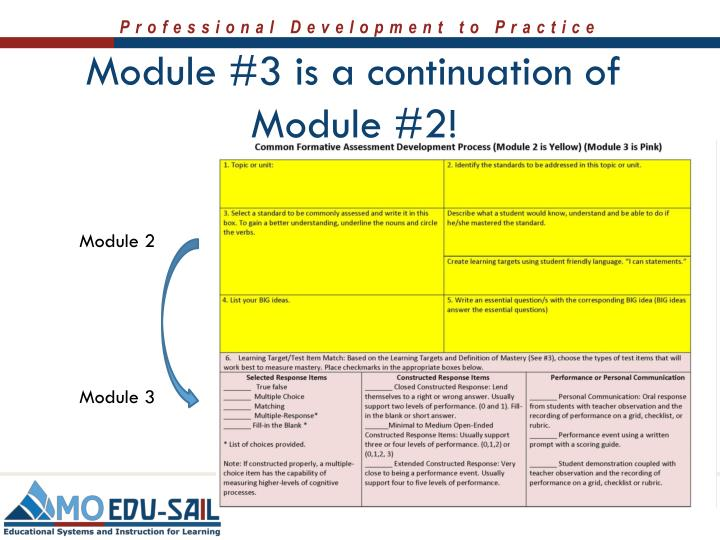 Module #3 is a continuation of Module #2!