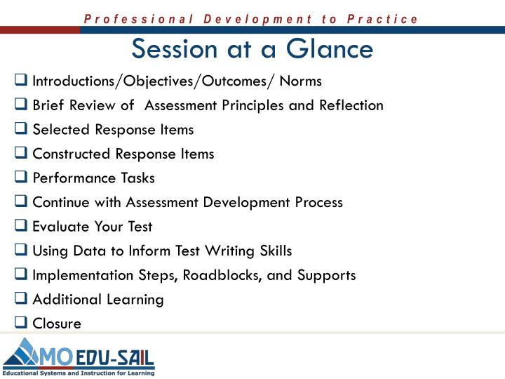 Session at a Glance