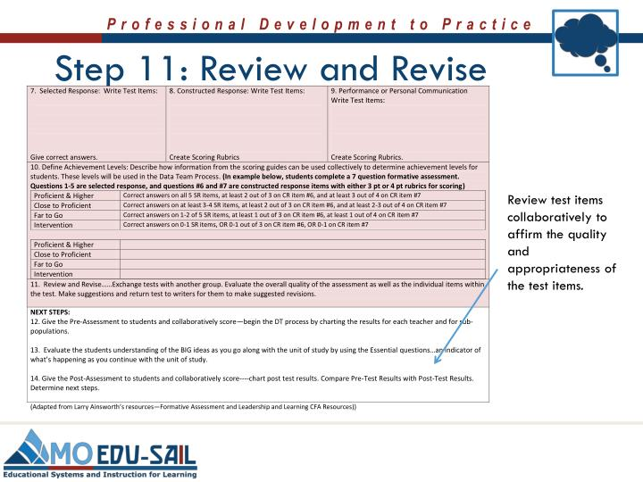 Step 11: Review and Revise