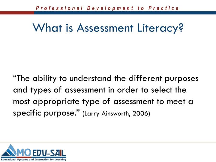 What is Assessment Literacy?