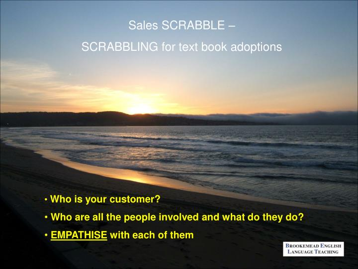Sales SCRABBLE –