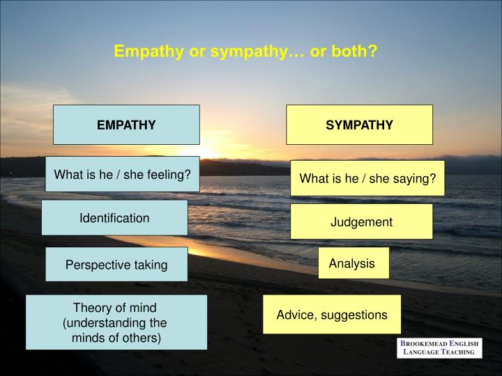 Empathy or sympathy… or both?