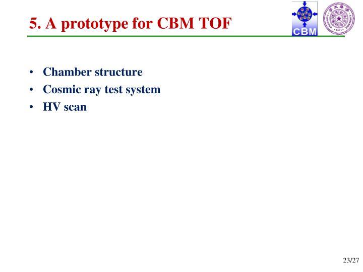 5. A prototype for CBM TOF
