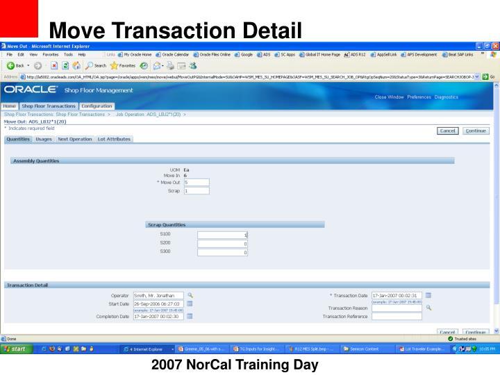 Move Transaction Detail