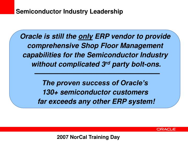 Semiconductor Industry Leadership