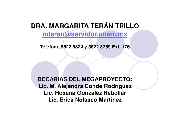 DRA. MARGARITA TERÁN TRILLO