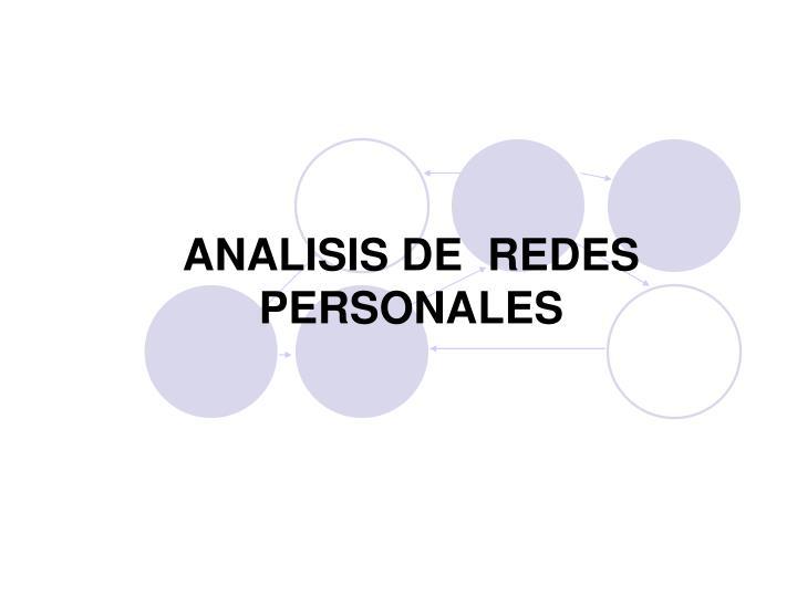 ANALISIS DE  REDES PERSONALES