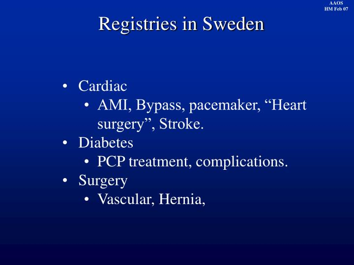 Registries in Sweden