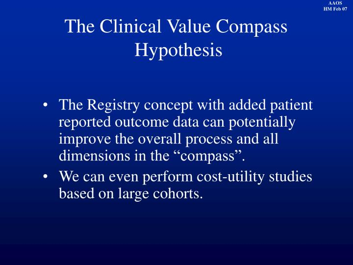 The Clinical Value Compass