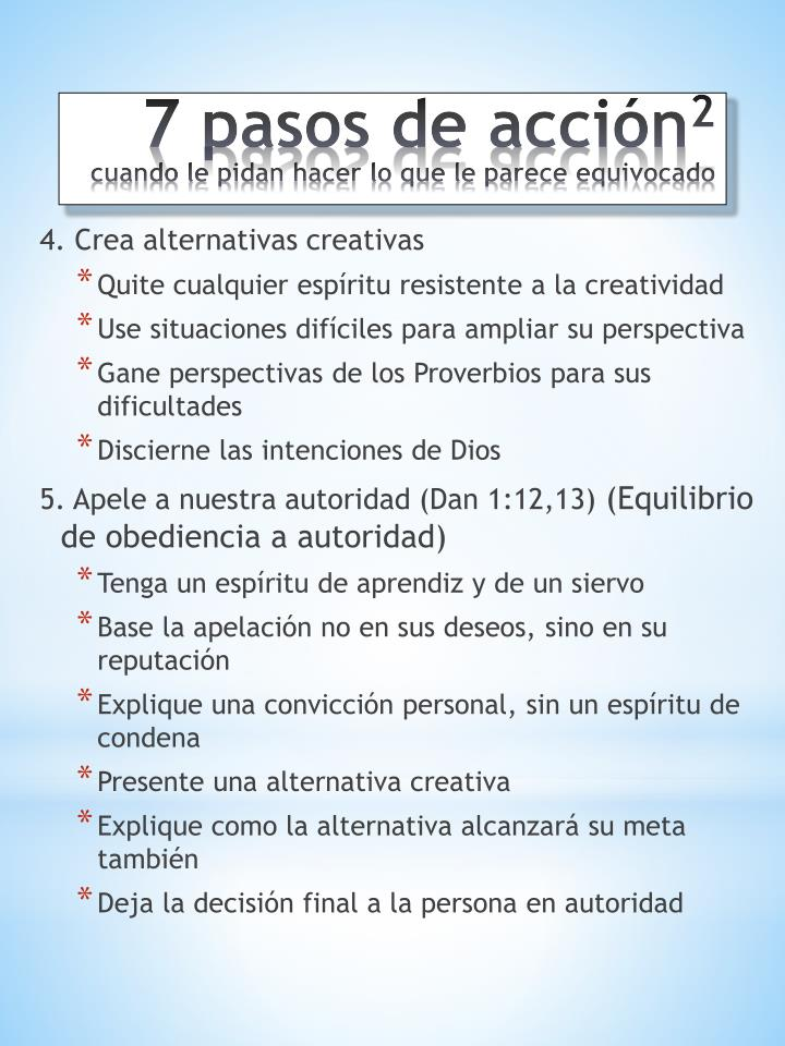 4. Crea alternativas creativas