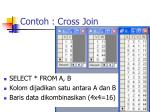 contoh cross join