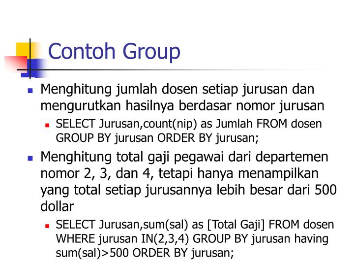 Contoh Group