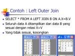 contoh left outer join