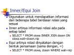 inner equi join