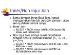 inner non equi join