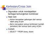 kartesian cross join