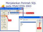 menjalankan perintah sql pada msaccess 2003