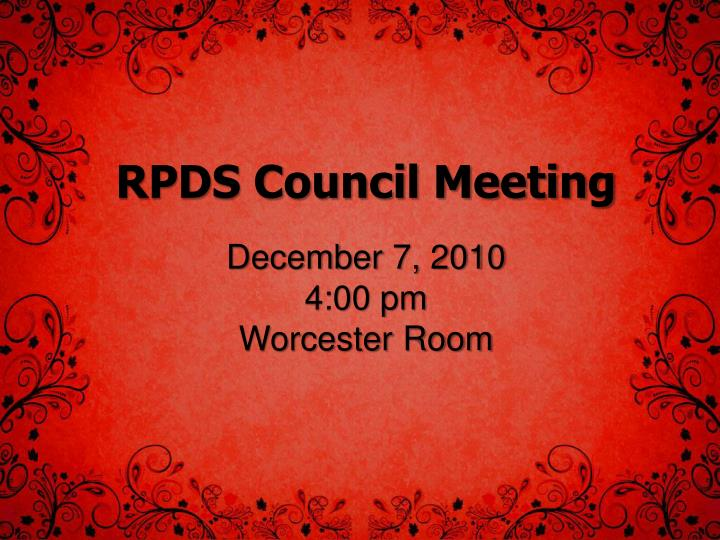 Rpds council meeting