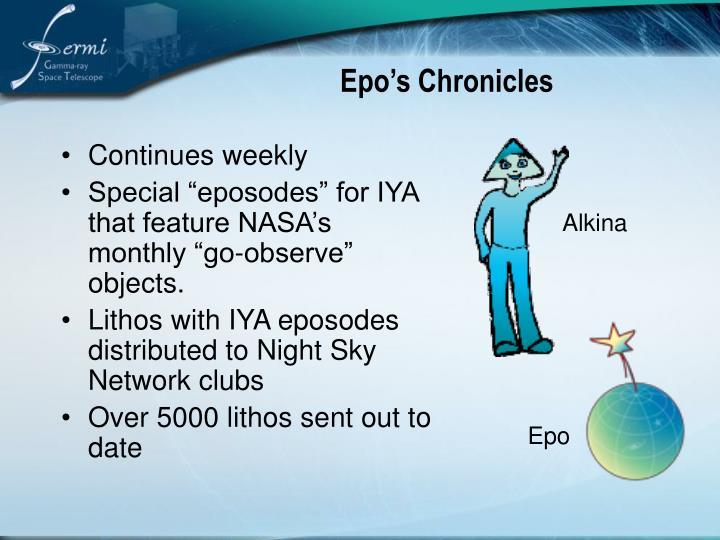 Epo's Chronicles