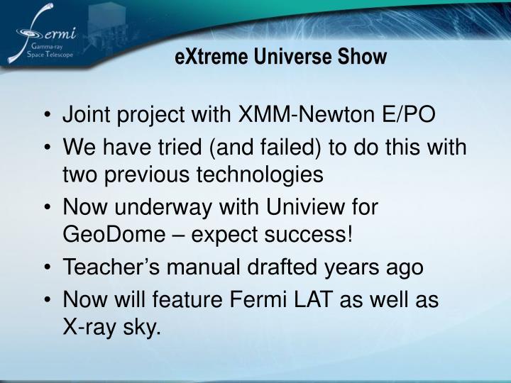 eXtreme Universe Show