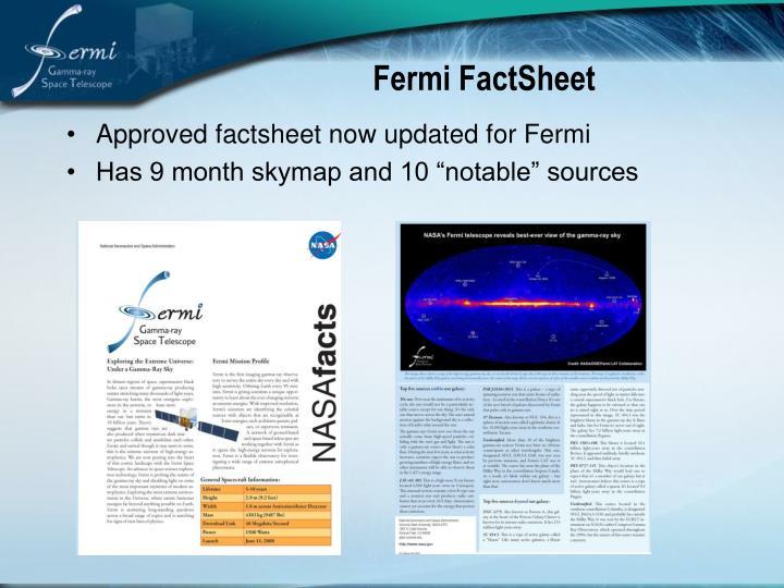 Fermi FactSheet