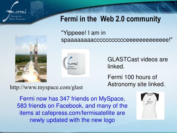 Fermi in the  Web 2.0 community