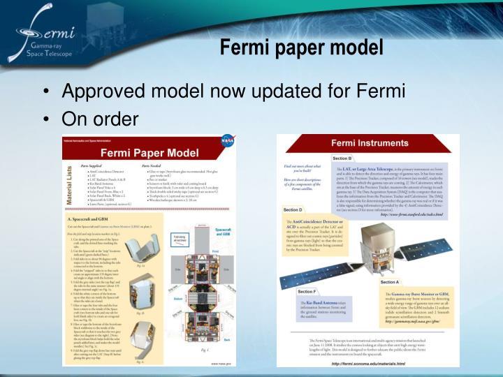 Fermi paper model